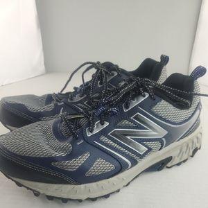 New Balance Men's 412 V3 MTE412G3 Gray/Navy Blue Trail Running Shoes-Size 9.5